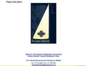 The Night Ministry's website-2001