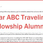 Letter to targeted ABC Traveling Fellowship Alumni